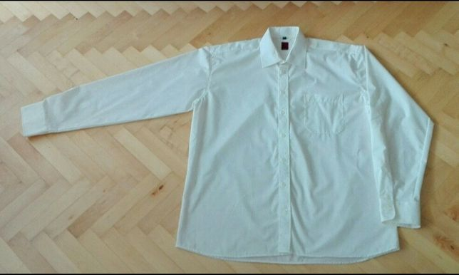 Koszula kremowa elegancka 43 182/188 XL Wólczanka