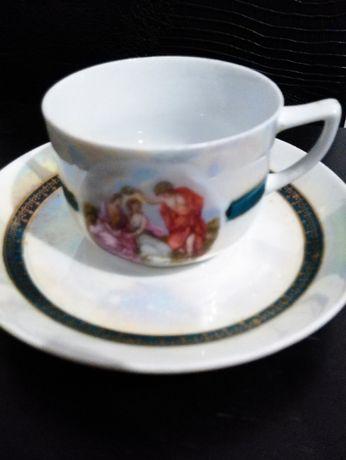 chávena de chá antiga.