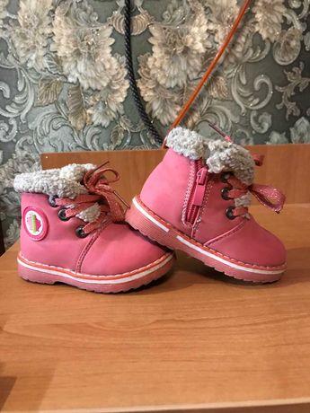 Розовые ботиночки зима
