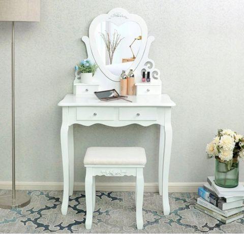 Śliczna toaletka kosmetyczna lustro Serce Premium+ GRATISY