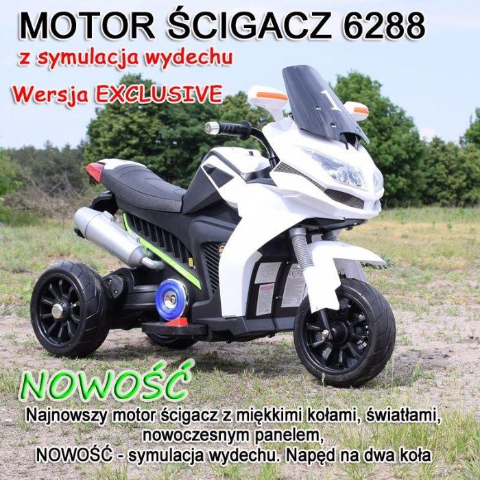 Motor na akumulator dla dziecka 3 kołowy ścigacz skuter Brzeg - image 1