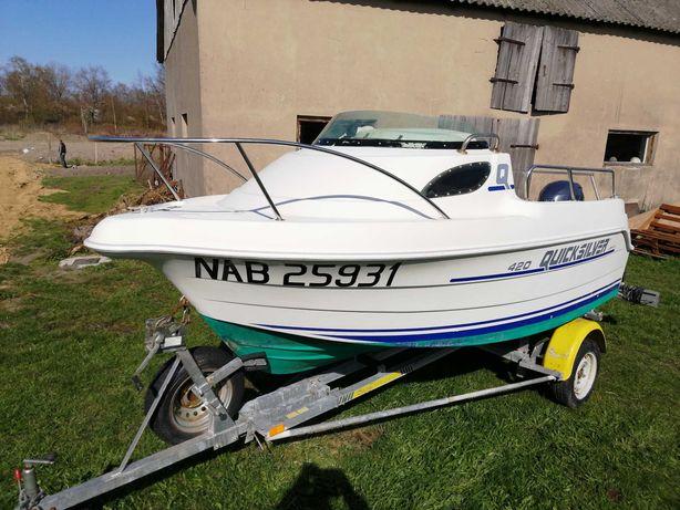 Jacht,łódź motorowa QUICKSILVER 420 + Yamaha 30 km. wtrysk + przyczepa