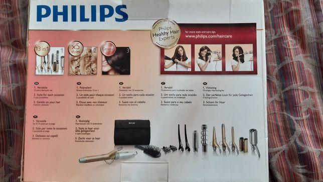 Modelador cabelo philips + hot air brush