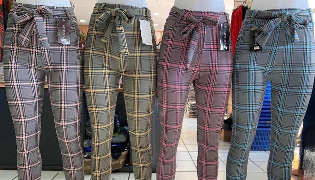 Leginsy damskie nowe modna kratka