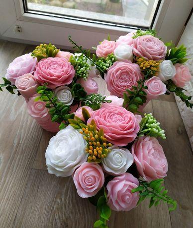 Букет из мыльных роз мила мыла подарок троянд роз