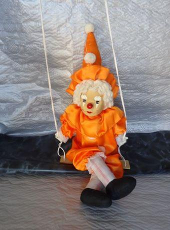 Marioneta de palhaço em porcelana