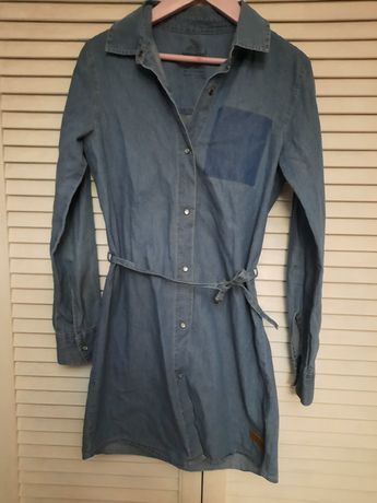 Sukienka 146 cienki jeans