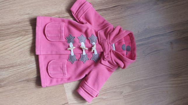 Płaszczyk dla dziewczynki Next 68cm różowy 3-6mc
