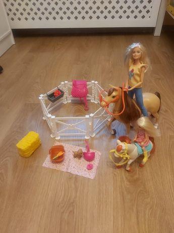 Lalka Barbie stadnina koni konie lalki