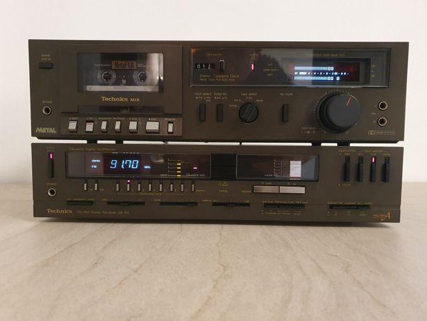 Zestaw Technics  amplituner SA-313 i magnetofon M-14, lata 1980/81