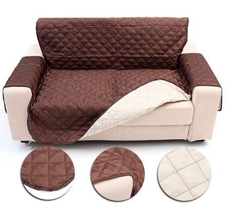 Capa de sofá reversível de dois lugares