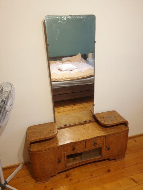 zestaw mebli PRL, łóżko, sypialnia, szafa, toaletka, szafki nocne