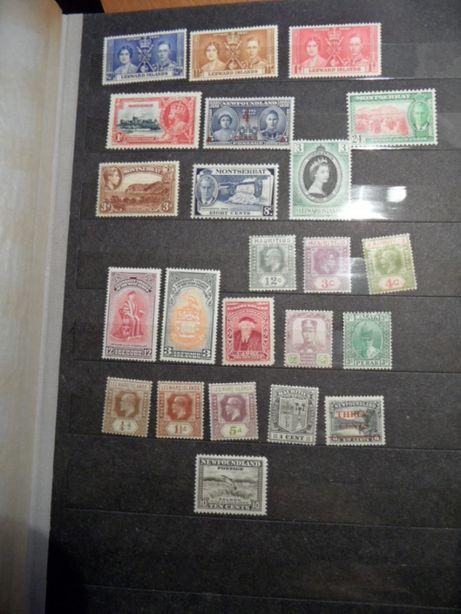 Kolonie Angielskie stare znaczki pocztowe czyste zestaw