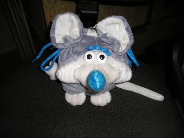 Мышка-мягкая игрушка. Рюкзак для новогодних конфет.