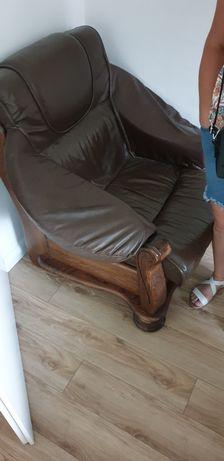Fotele skórzane 2 szt.