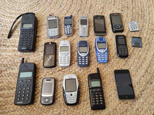 Telemóveis antigos Nokia - Samsung - Motorola - Philips - Audiovox