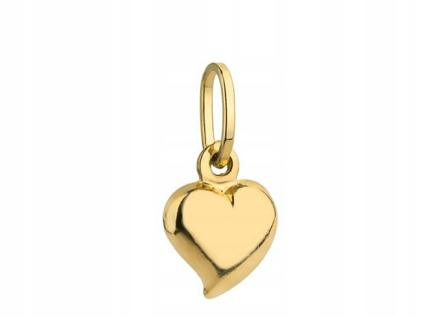 Zawieszka wisiorek serce serduszko złoto 585 0,5g