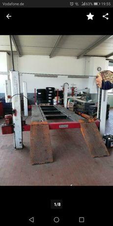 Rama blacharska car bench na podnośniku 4kolumnowym