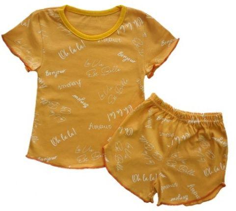 Комплект для сна футболка + шорты для девочек