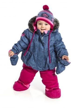 Комбинезон  зимний +шапочка Peluche & Tartine на 1,5-3 года