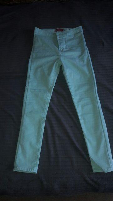 Штаны узкие,мятного цвета