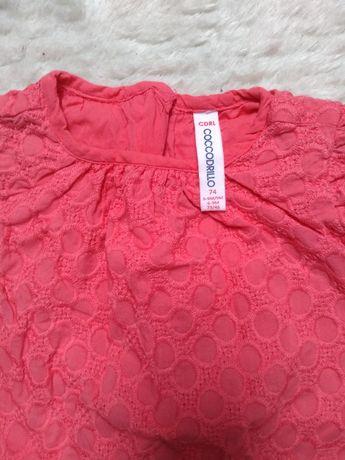 Czerwona sukienka truskawka Coccodrillo r. 74