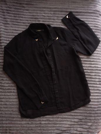 Чорна жіноча блузка