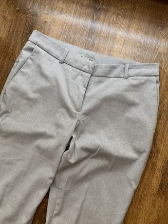 Szare damskie spodnie, rozmiar 36