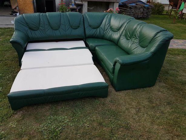 Шкіряний розкладний куток /диван з Європи