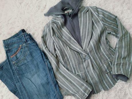 Zestaw Reserved Firetrap jeansy marynarka kurtka spodnie