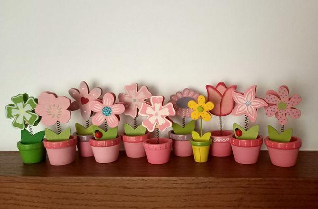 OZDOBA, kwiatek, biuro, kwiatuszki - spinacze