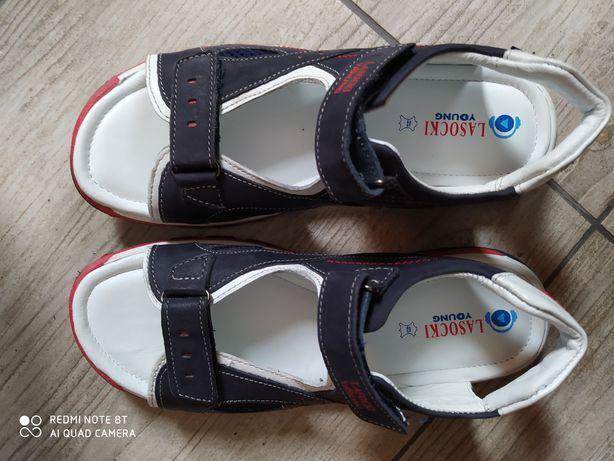 OKAZJA sandały skórzane rozmiar 36