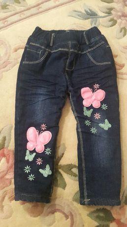 Тёплые джинсы 400р