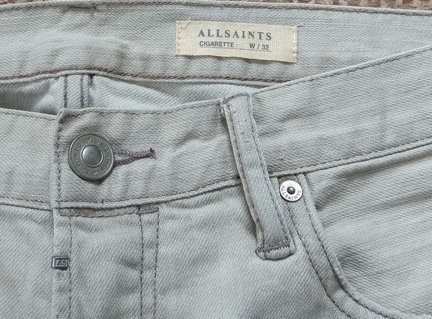 ALL SAINTS Greeley Cigarette джинсы skinny Оригинал W32 L32 пояс 43 см