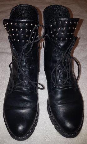 Ботинки полусапожки кожанные демисезонные (на девочку подростка) р.37