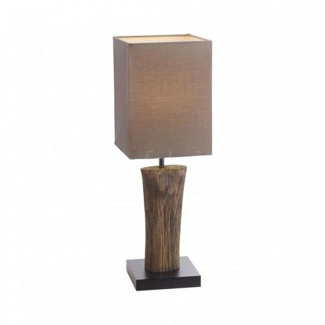 Africa egzotyczna lampa nocna/salonowa drewno+tkanina Paul Neuhau 1938
