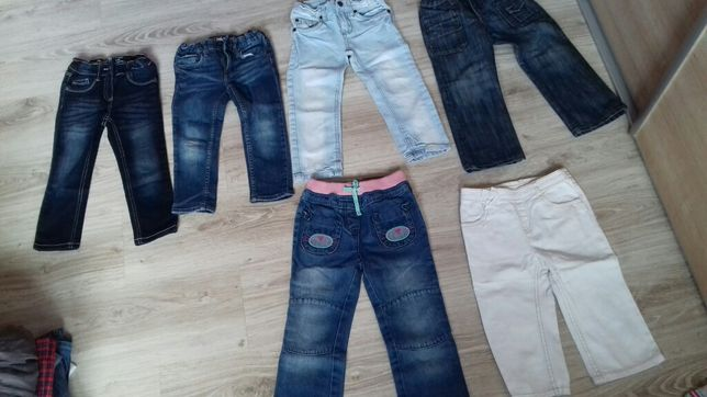 spodnie bluzki sukienki kurtka roz 92-98 paka