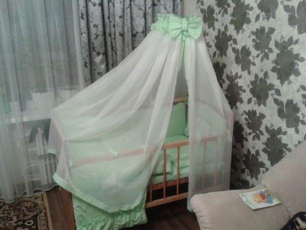 Комплект детского постельного с защитой