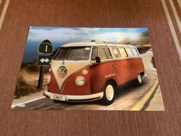 Plakat trójwymiarowy 3D VW VolksWagen Californian Camper 66 cm x 47 cm