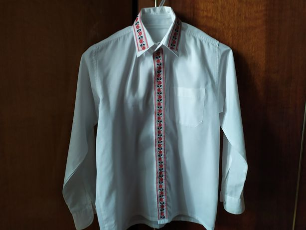 Рубашка-вышиванка для мальч 9-12ле