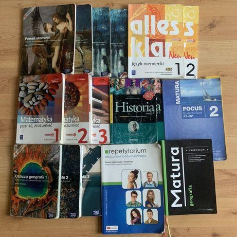 Książki liceum technikum alles klar focus ponad słowami oblicza geogra