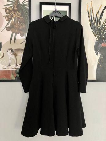 Sukienka czarna kołnierzyk Bardot Bebe Edan PL marka 38/40 M L tiul