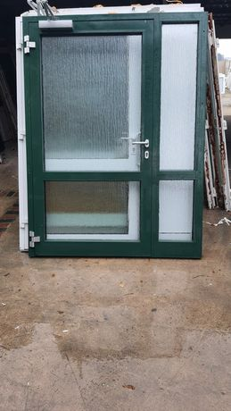 Drzwi aluminiowe 162x215 zielone Niemieckie DOWÓZ CAŁY KRAJ