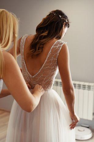 Suknia ślubna body+spódnica