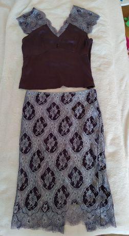 spódnica M komplet koronkowy