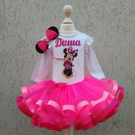Костюм МиккиМауса, платье на 1 2 3 года ,костюм на день рождение,пачка