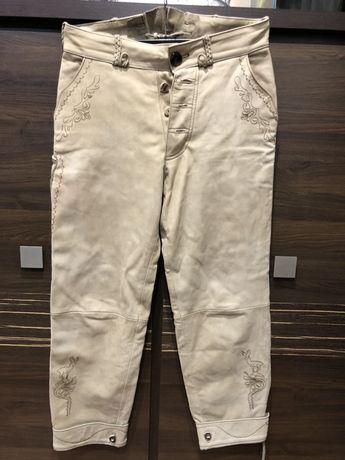 Spodnie góralskie naturalna skóra