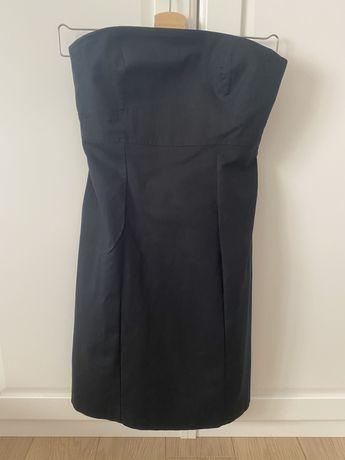 Sukienka bez ramiączek, mała czarna Benetton r. S