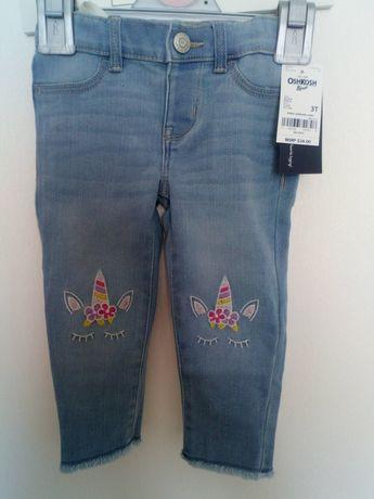 Минимальная цена !Новые джинсы oshcosh 3T