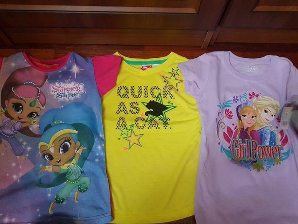 Nowe koszulki bluzeczki Shimmer i Shine Frozen PUMA